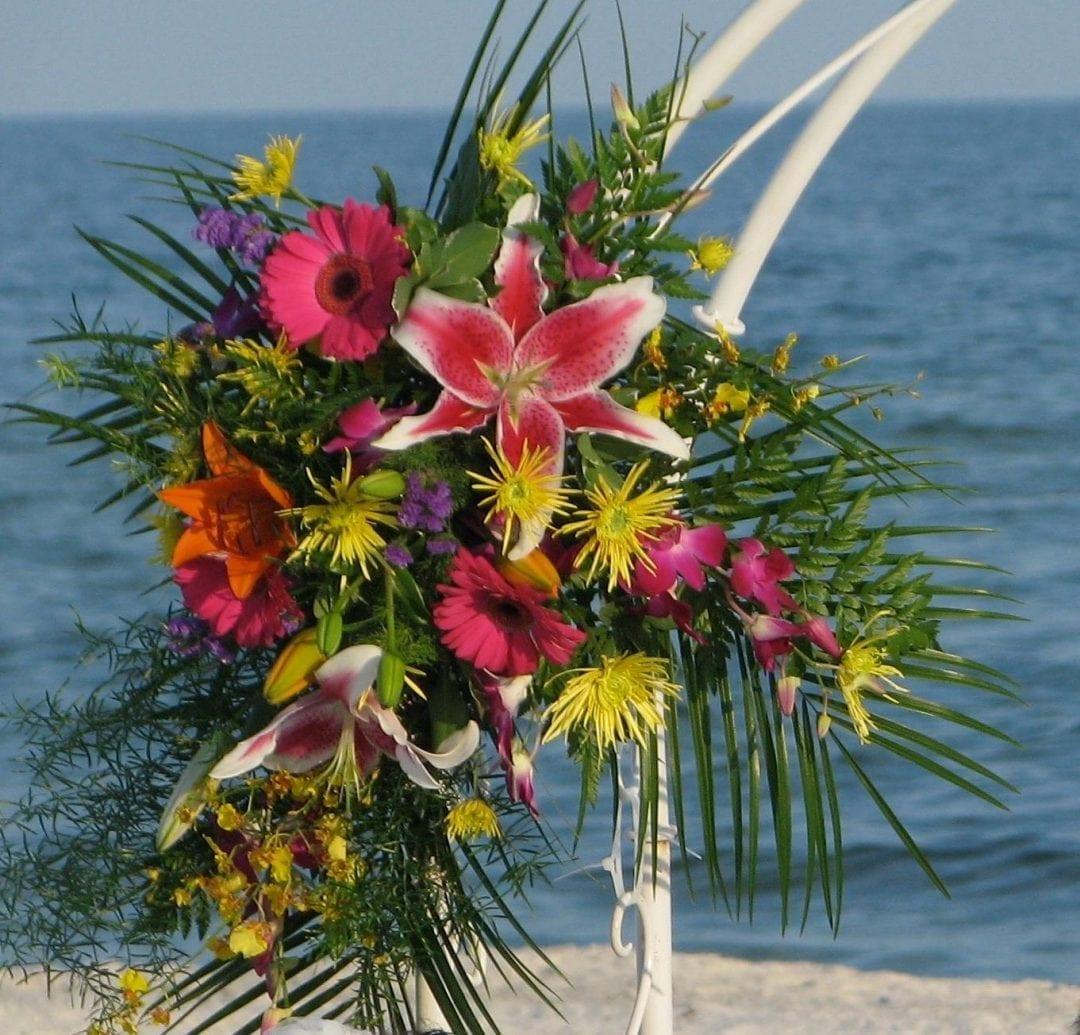 bamboo wedding gazebo on the beach