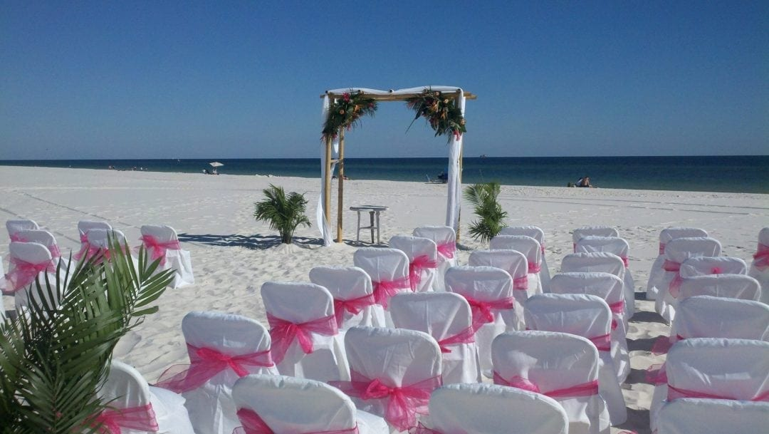 bamboo wedding gazebo on the beach
